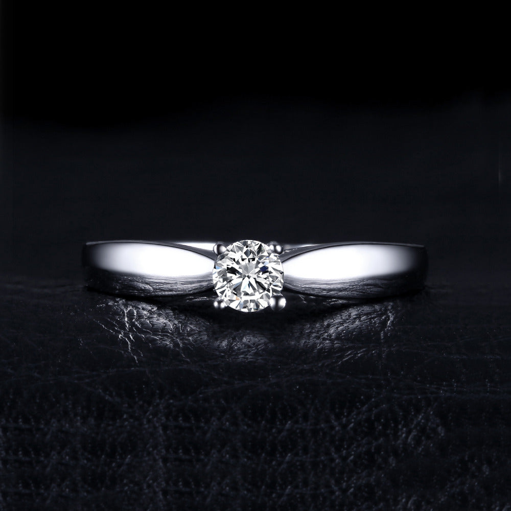 Lovely Engagement Solitaire Ring