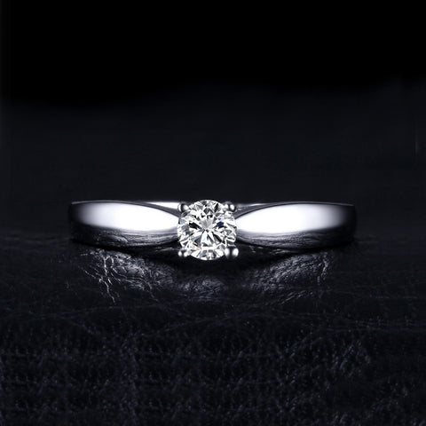 Image of Lovely Engagement Solitaire Ring