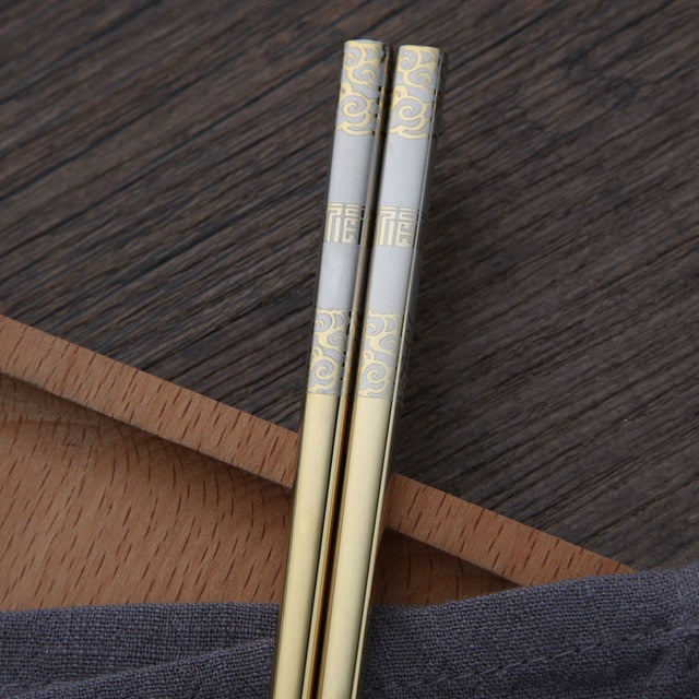 Anti-rolling Luxury Laser Chopsticks