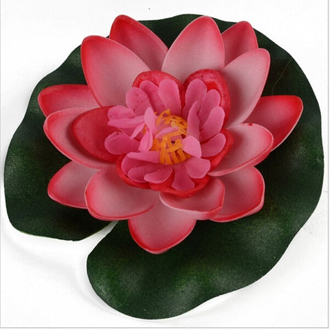 Image of Artificial Floating Lotus Garden Decor