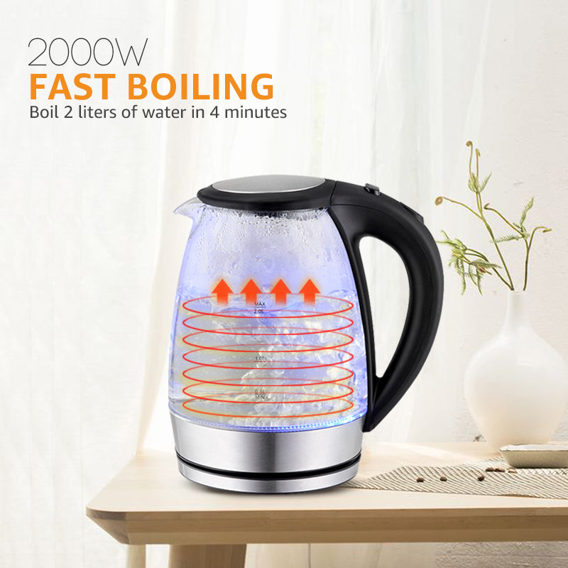 2L Glass Electric Kettle
