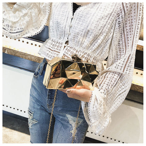Image of Women Metal Clutches Party Purse