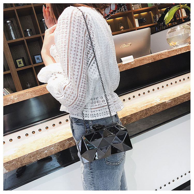 Women Metal Clutches Party Purse
