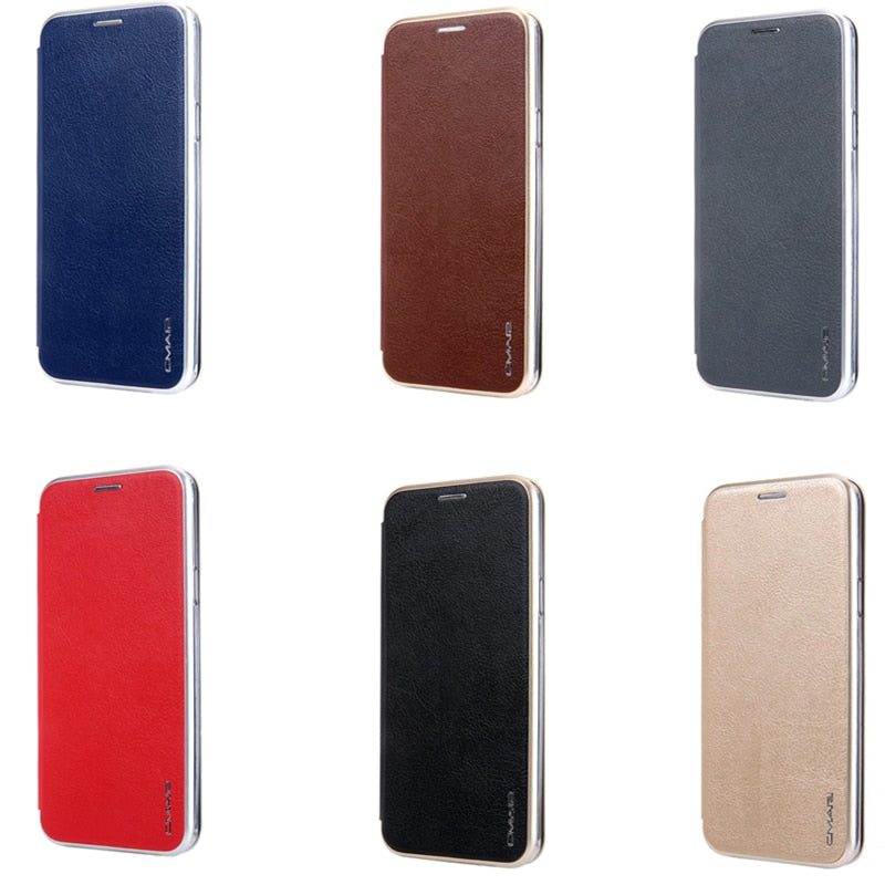 Magnetic Flip Leather Wallet for Samsung
