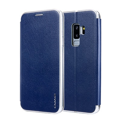 Image of Magnetic Flip Leather Wallet for Samsung