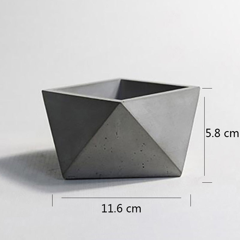 Geometric Polyhedron Silicone Cement Mold Bonsai Tool