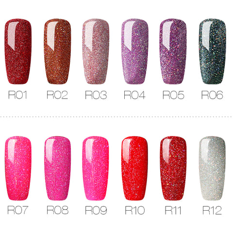 Women Nails Gel Rainbow Series Set
