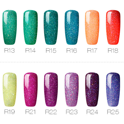Image of Women Nails Gel Rainbow Series Set