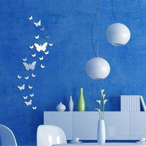 Image of 3D Mirrors Butterfly Wall Stickers Decal Wall Decor
