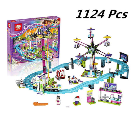 Kids Amusement Park Roller Coaster Figure Toys