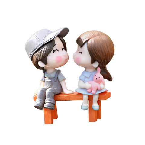 Image of Lovers Chair Miniature DIY Garden Decor