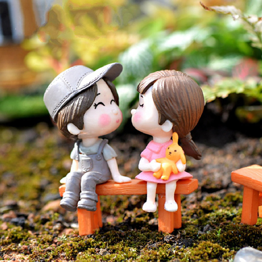 Lovers Chair Miniature DIY Garden Decor
