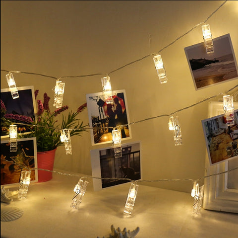 Image of Card Photo Clip String Lights