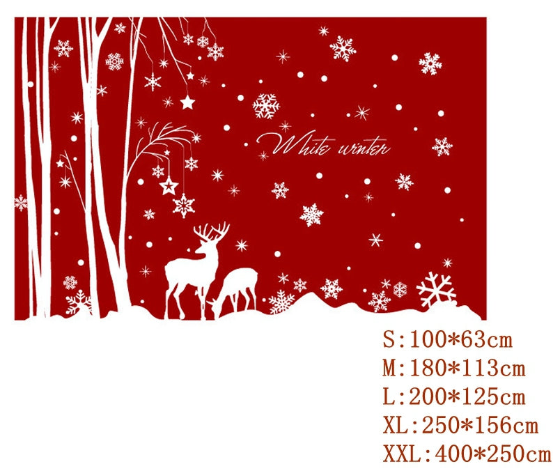 Christmas Home Glass Decals