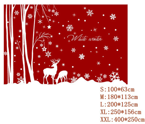 Image of Christmas Home Glass Decals