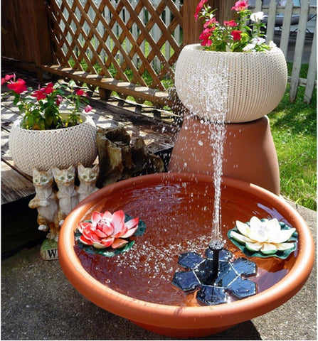 Image of Electric Power Flower Fountain Garden Decor
