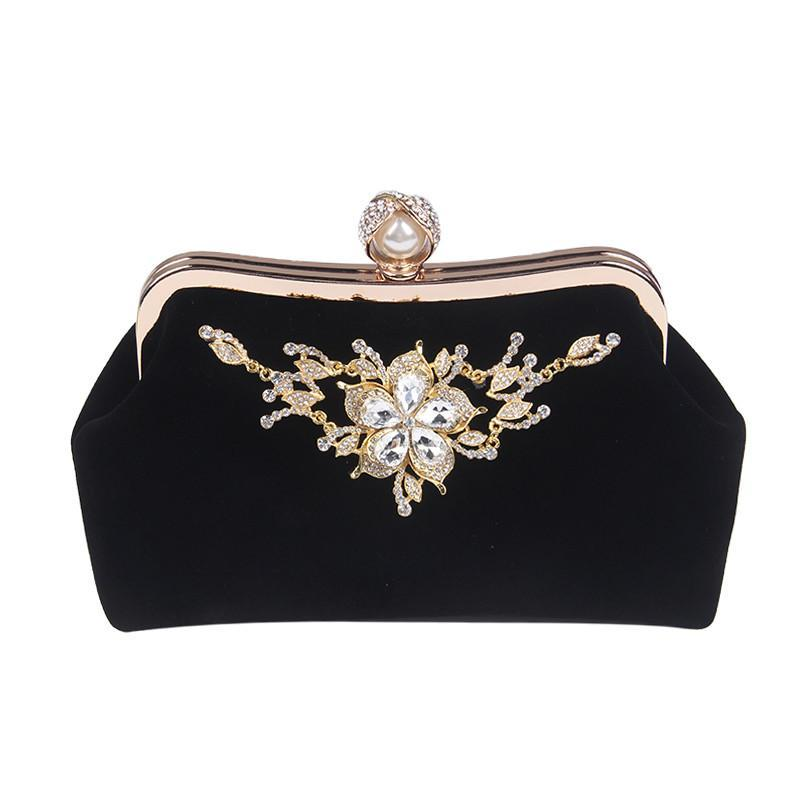 Velvet Diamond Pearl Handbag