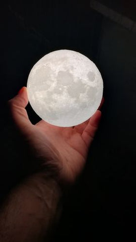 Rechargeable USB Moon Lamp
