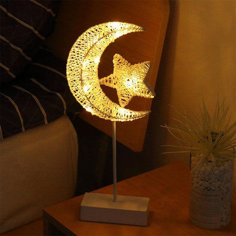 Image of LED Exquisite Rattan Lamp