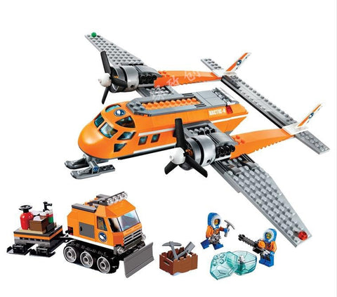 Image of Arctic Supply Plane Model Building Blocks City Toys