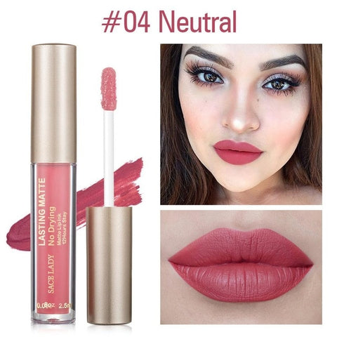 Women Waterproof Matte Liquid Lipstick