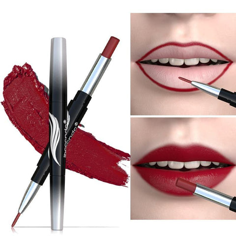 Women Matte Double End Long Lasting Lipsticks