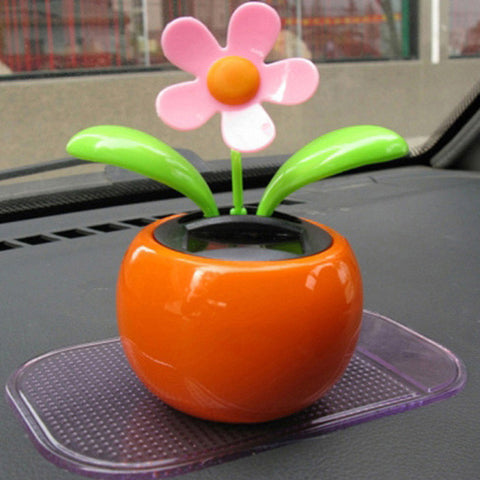 Car Accessories Solar Powered Dancing Flower