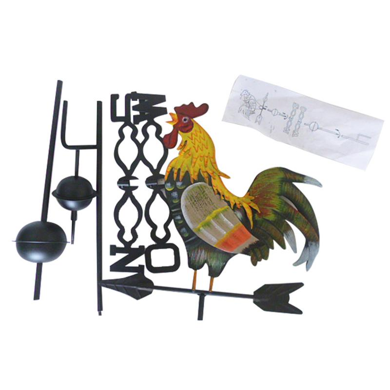 Colorful Cock Decorative Weathervanes Iron Wind
