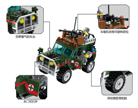 Image of Kids 241pcs Jeep Models Building Kits Blocks Toys
