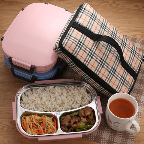 "Image of ""The Perfect"" Stainless Steel Thermal Lunch Box"