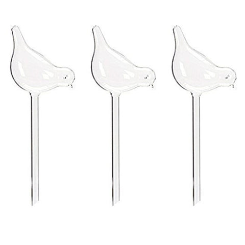 """Smarter Life"" Self Watering Glass Birds - 3 Pack"