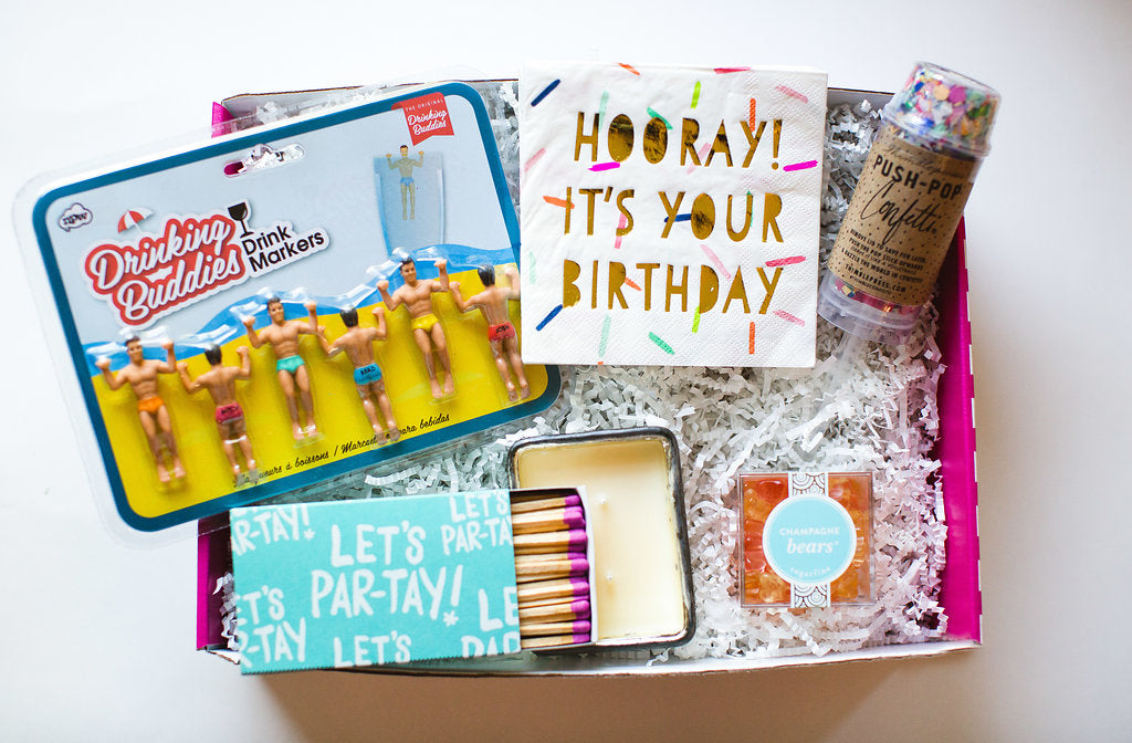 birthday box with lots of goodies!