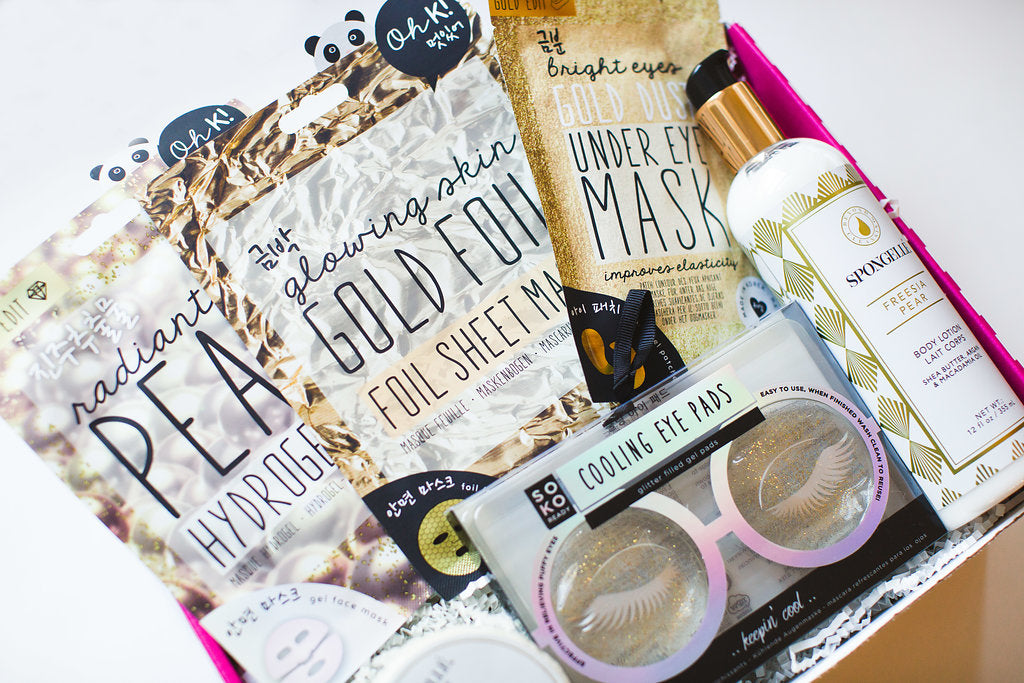 face mask, lotion and everything you need for a spa night