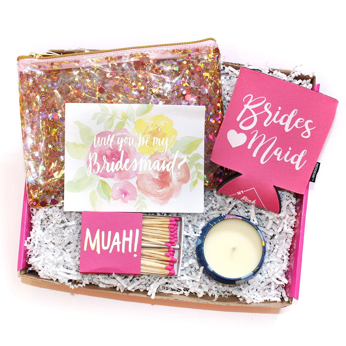 """Will you be my bridesmaid"" box. The perfect way to ask your friends if they will stand by your side"