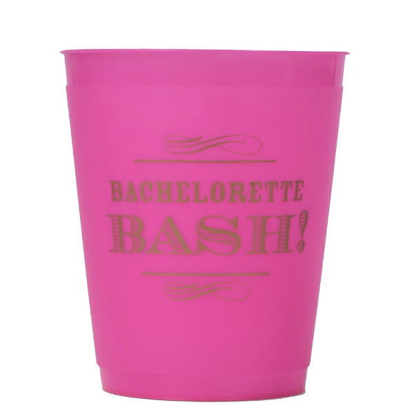 "Pink ""Bachelorette Bash"" 16 ounce cup. 8 pack"