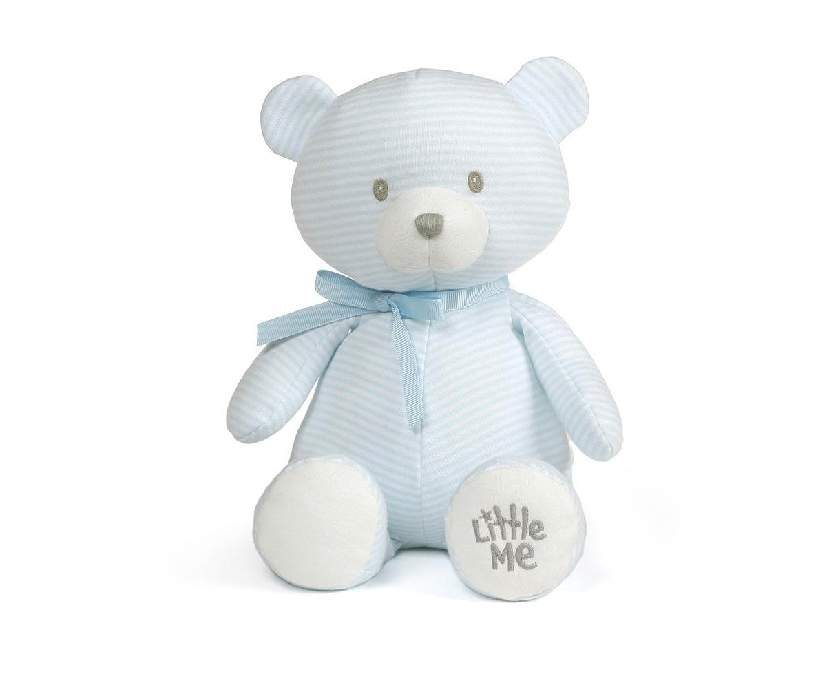 little me blue striped cuddly teddy bear