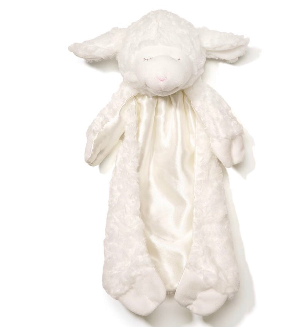 Winky the Plush Lamb Huggybuddy Baby Blanket