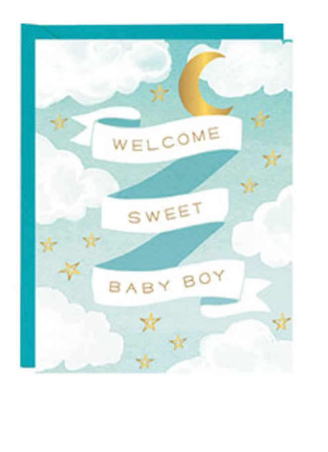 Welcome Sweet Baby Boy Card