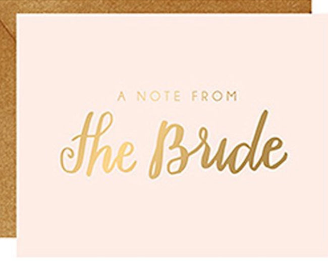 Note From The Bride Cards (set of 10)