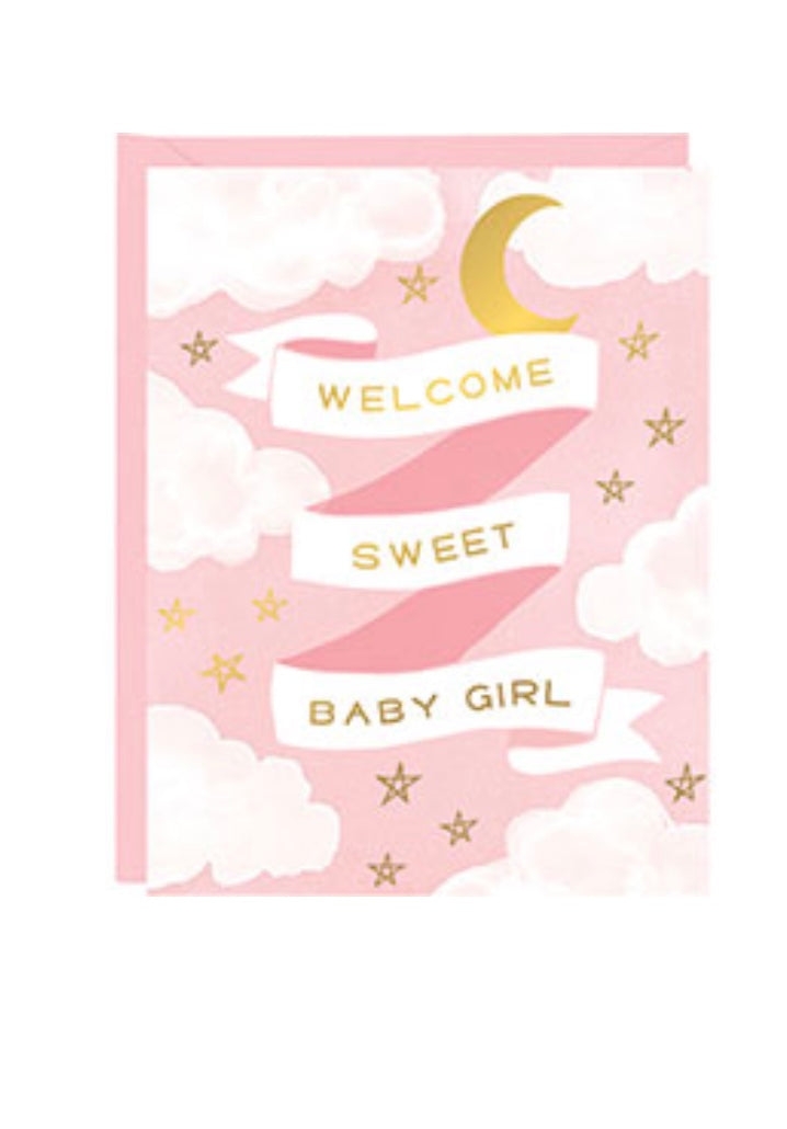 Welcome Baby Girl Card
