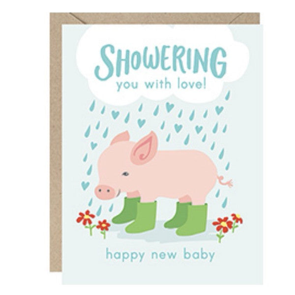 Showering you with love greeting card