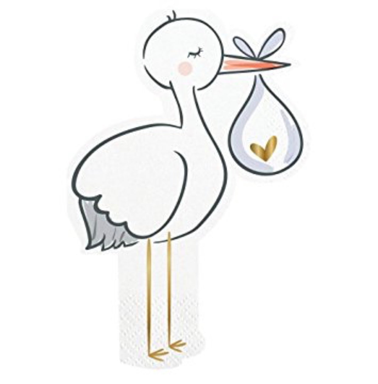 Stork and Baby Bundle Napkins