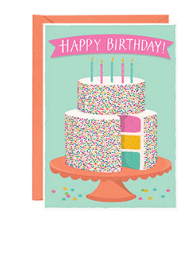 Happy Birthday birthday cake card