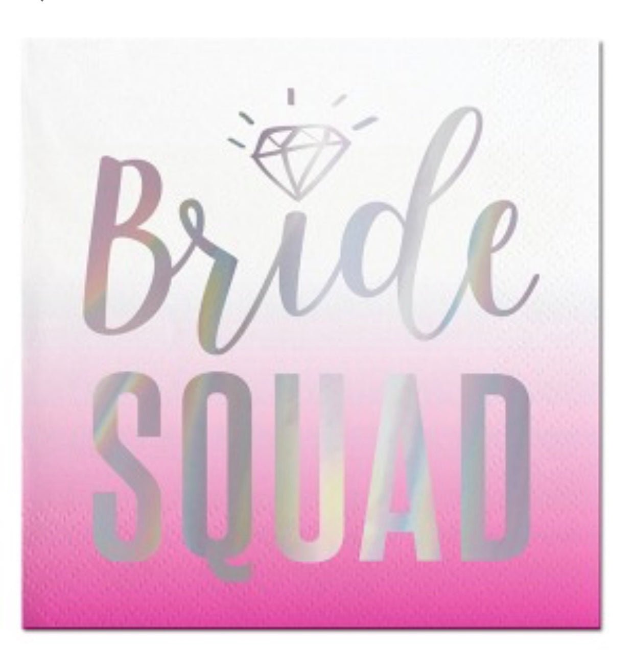 Bride Squad pink ombre cocktail napkins