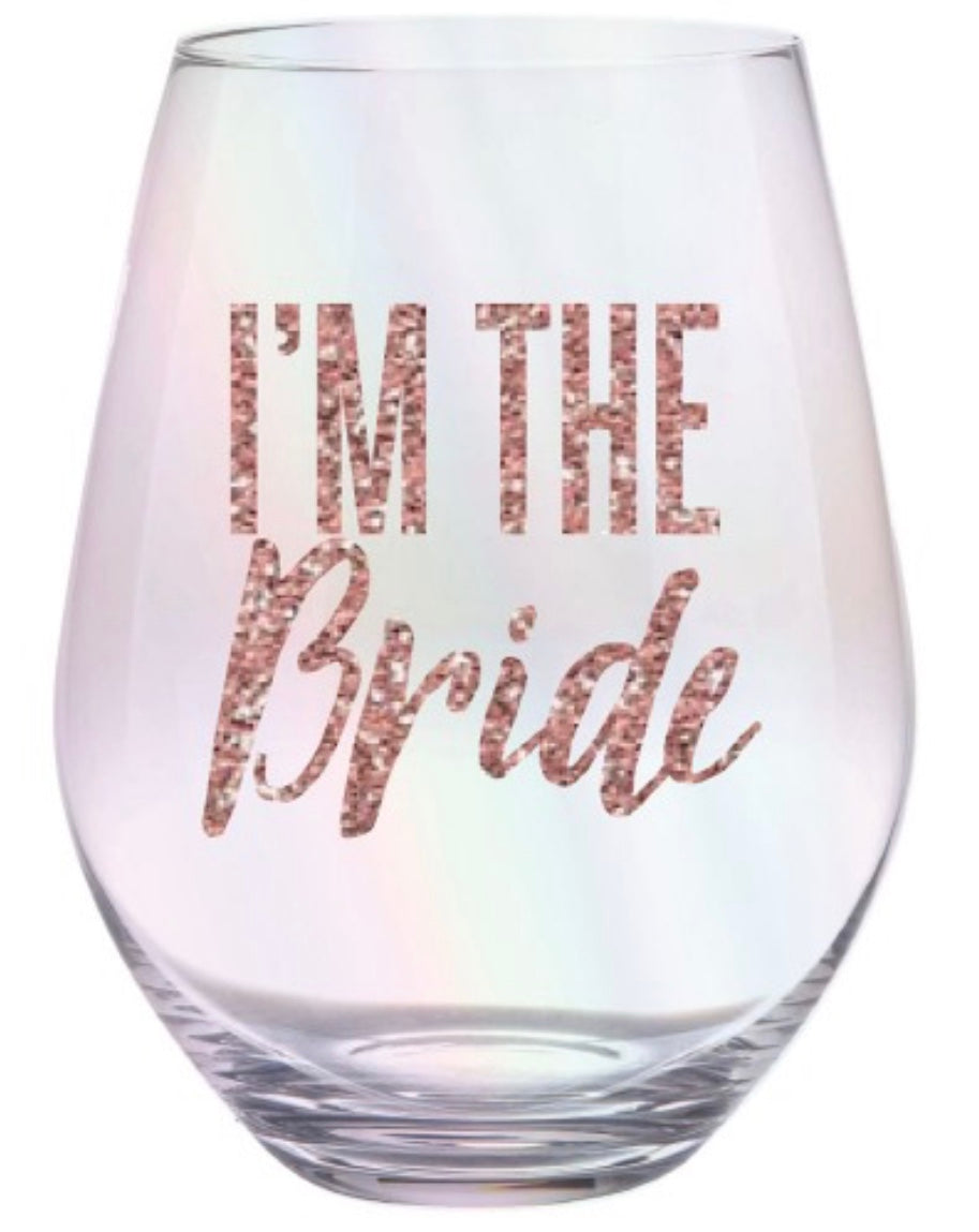 I'm The Bride Jumbo Stemless Wine Glass