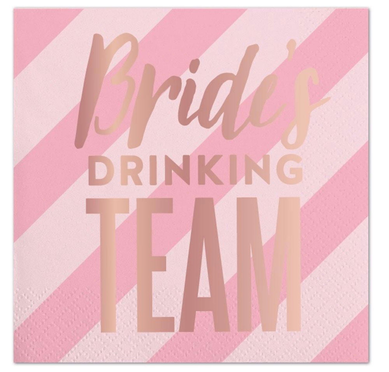 Bride's drinking team bachelorette cocktail napkins
