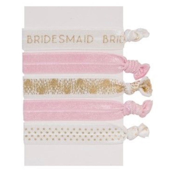 bridesmaid elastic hair ties