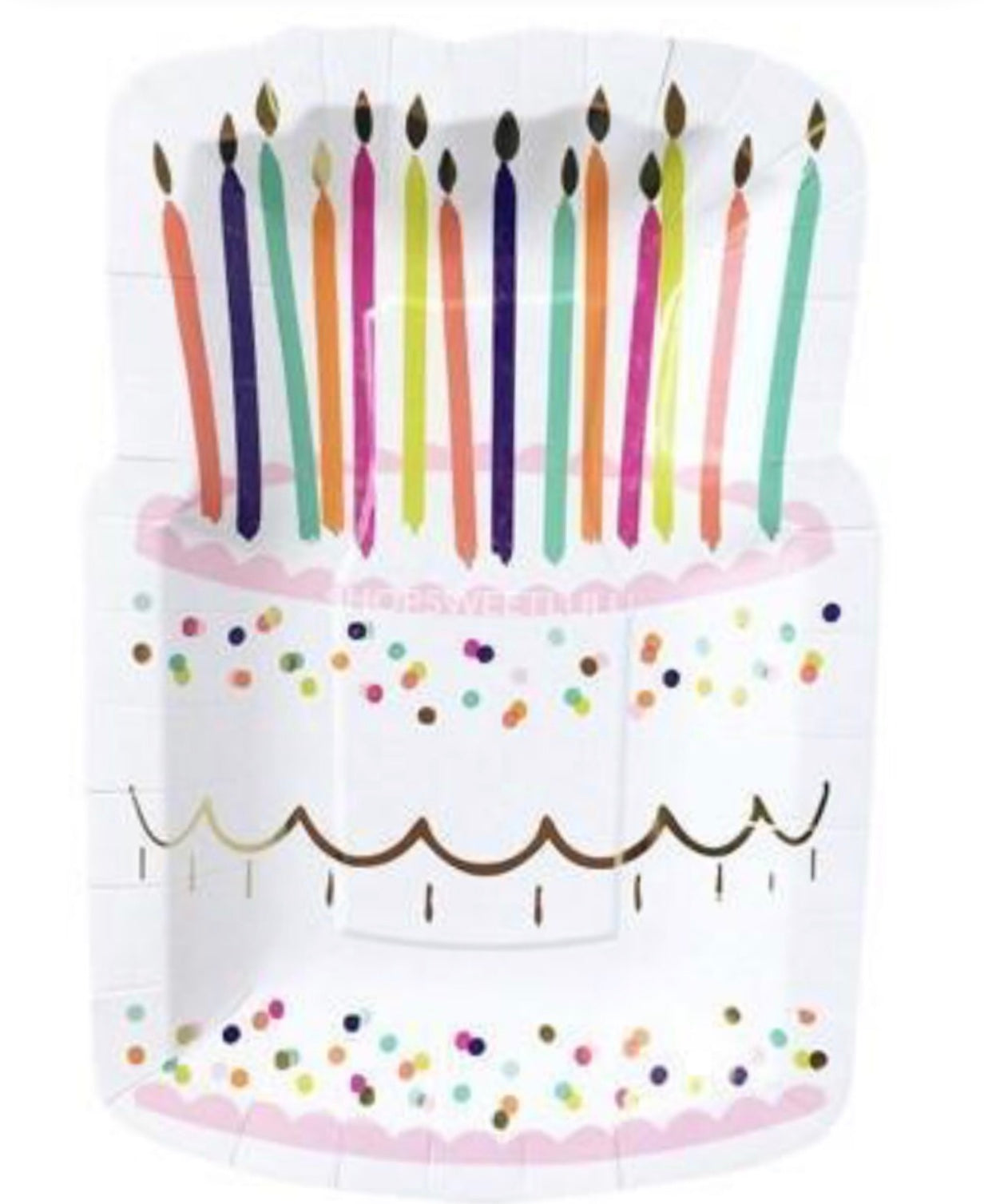 birthday cake paper plates with candles perfect for birthday custom birthday party box