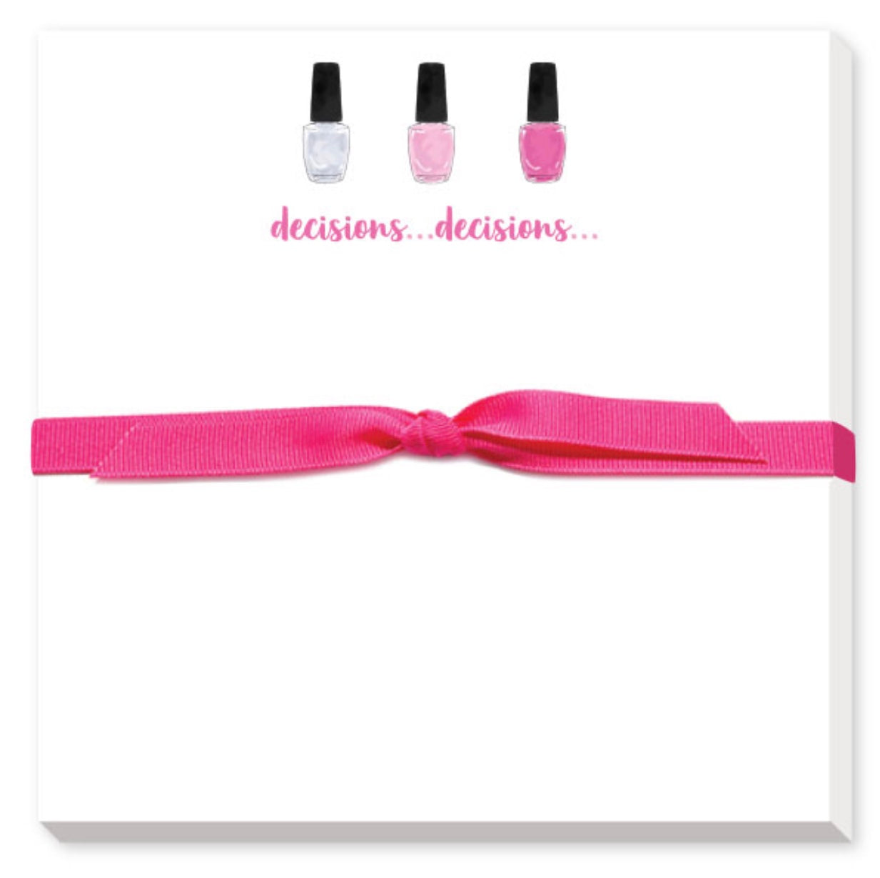 decisions decisions notepad with lipstick for all of your notes