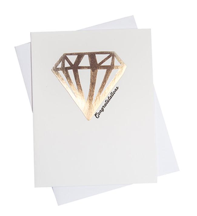 gold diamond congratulations greeting card